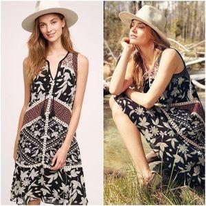Anthropologie Floreat Grasslands Floral Midi Dress